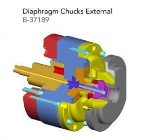 Diaphragm Chucks External B 37189